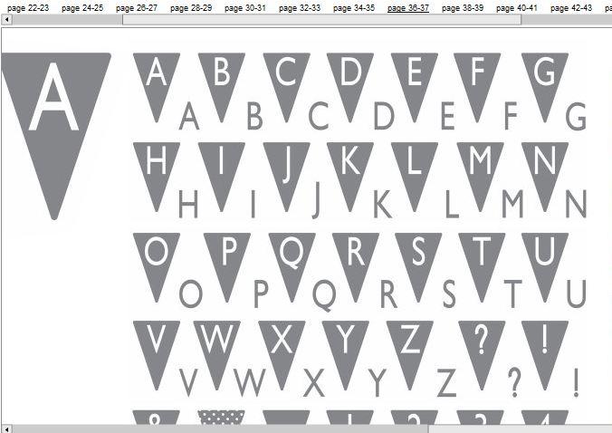 Pennant alphabet stamp