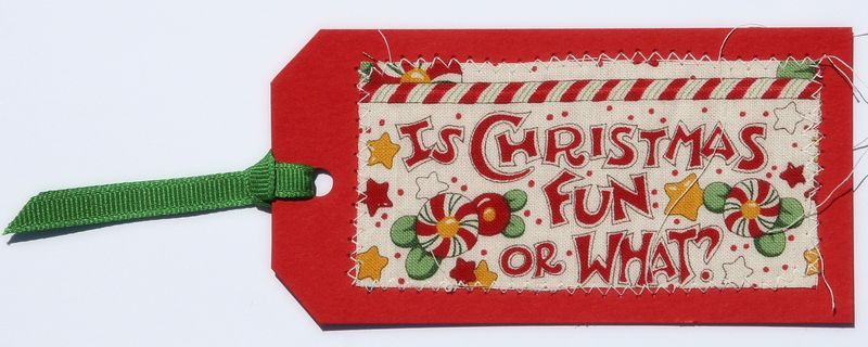 Fabric tag 4 christmas