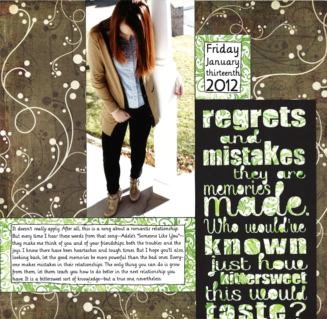 Regrets and mistakes a sorensen