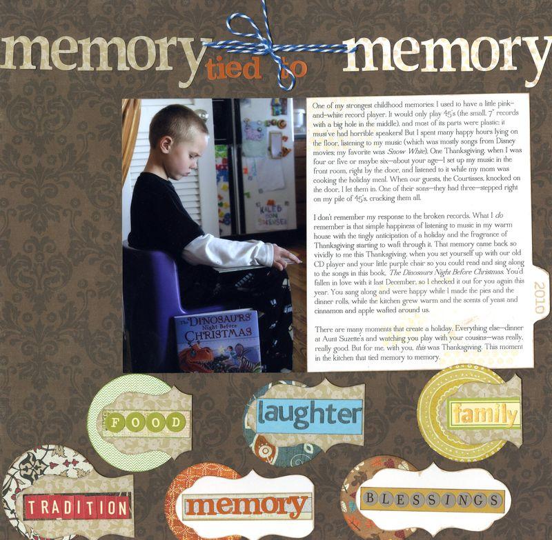 memory to memory Amy Sorensen