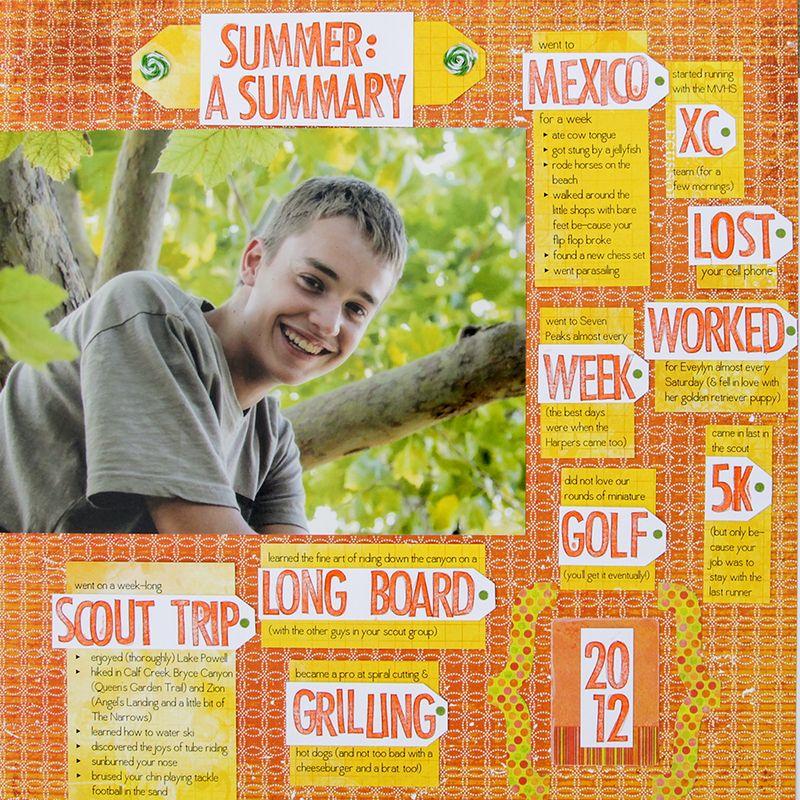Summer summary Amy Sorensen
