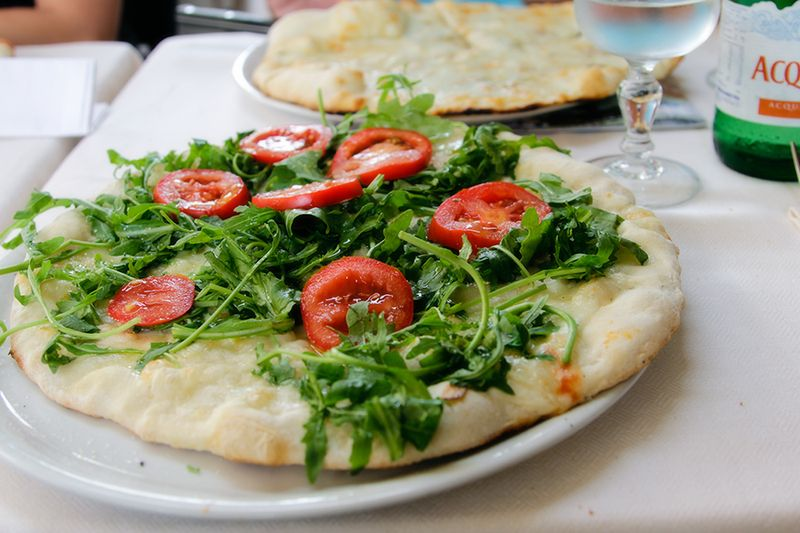 Rocket salad pizza 2x3