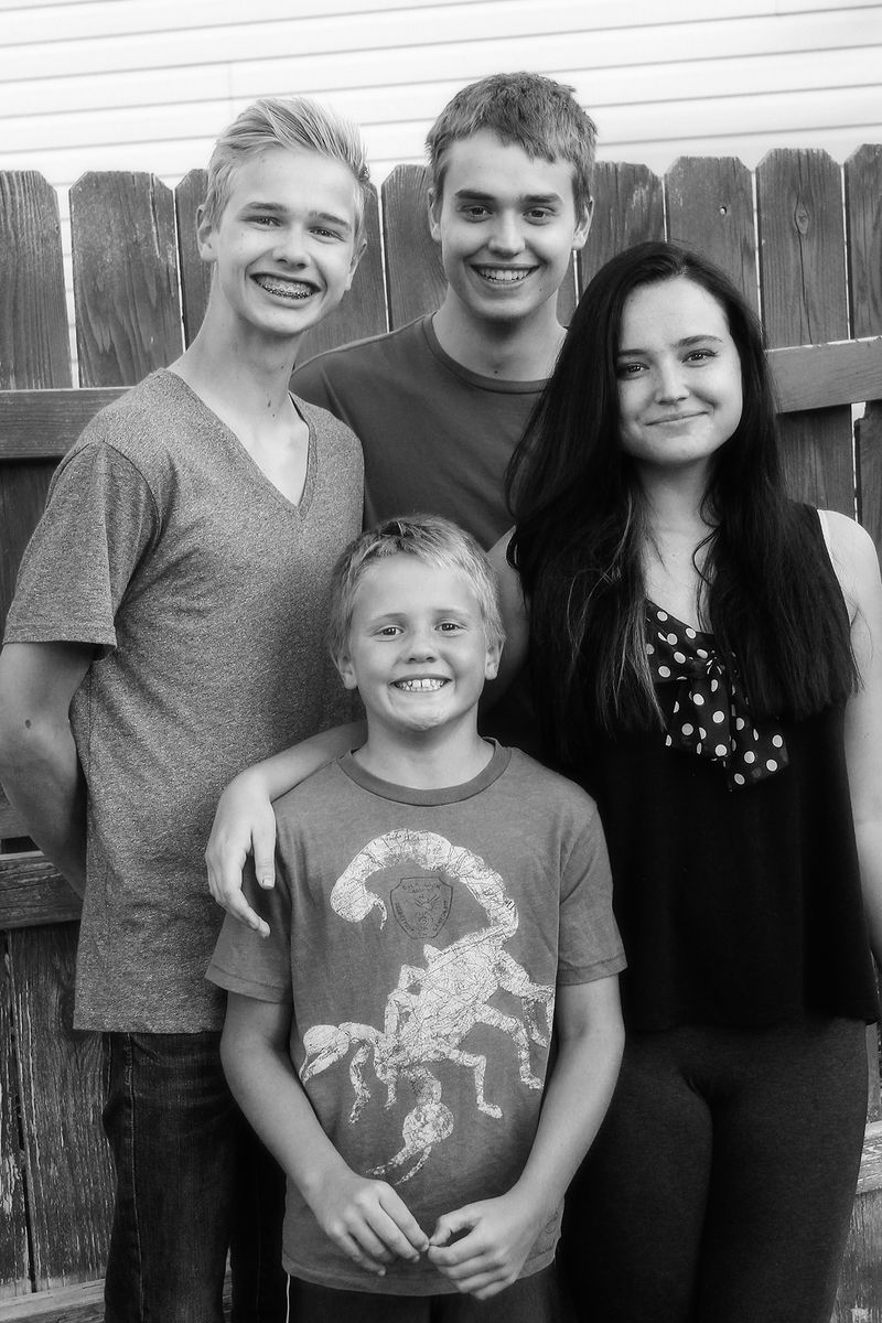 IMG_4117 all 4 kids 4x6 bw