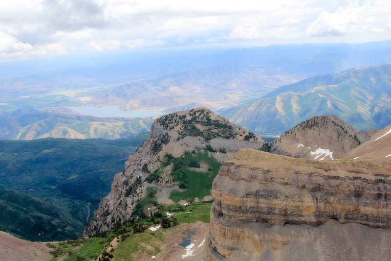 Timp view from summit trail into Heber valley