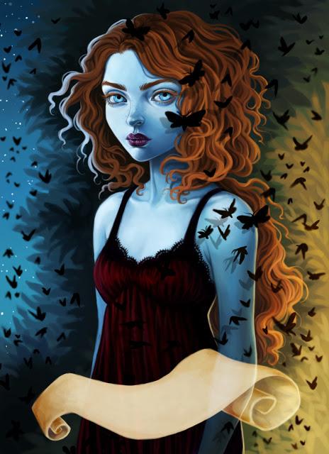 Sarai with moths