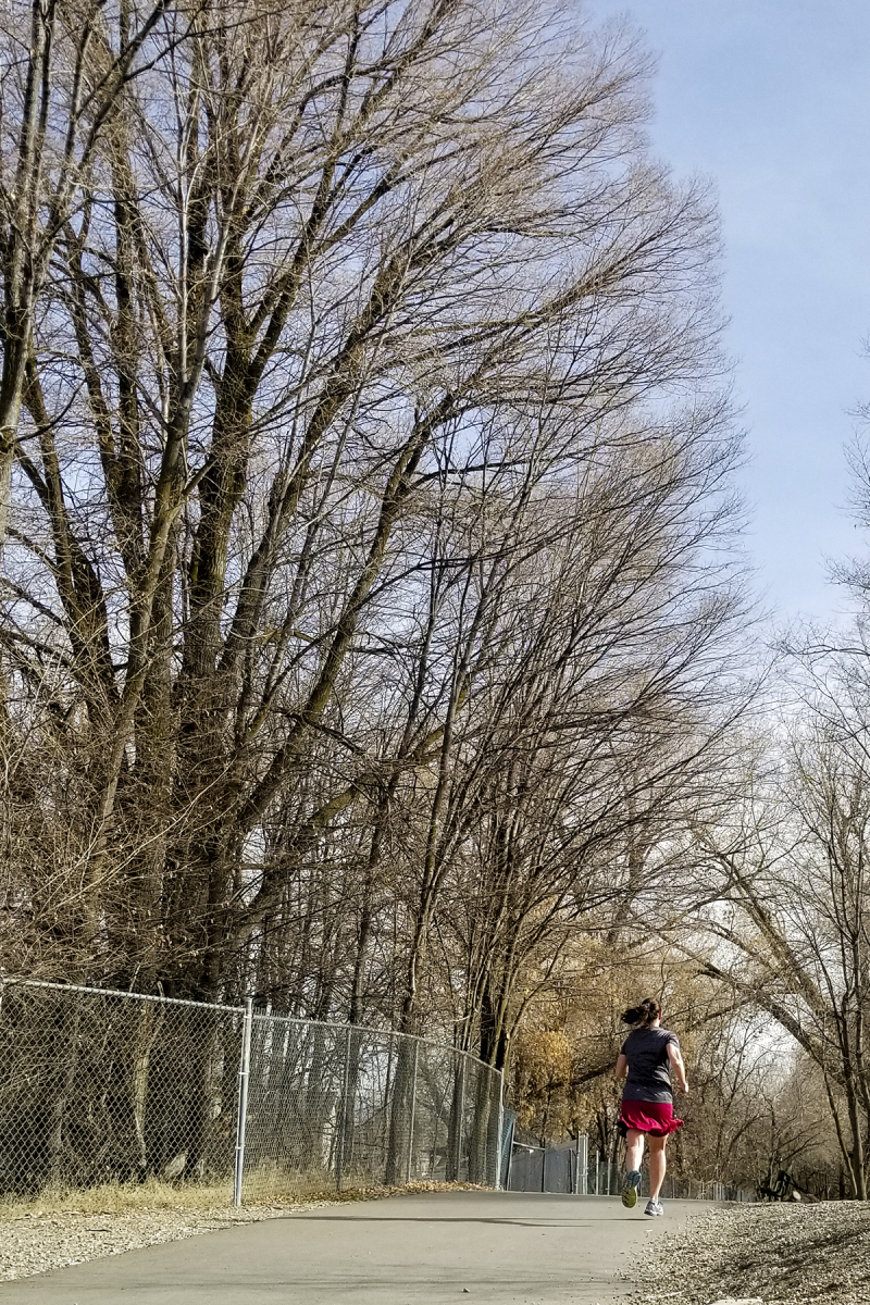 Running on the provo river trail