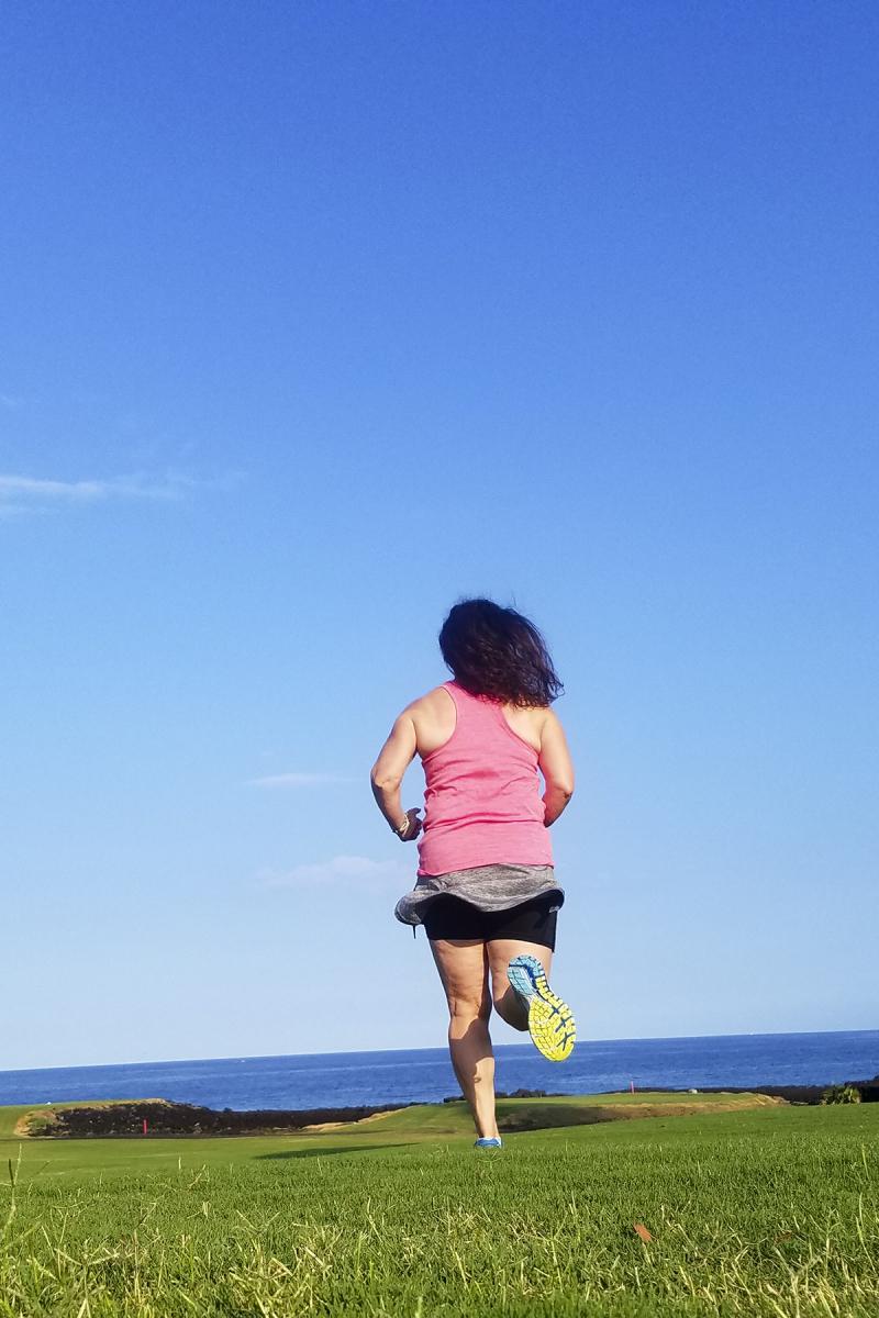 Amy running in hawaii