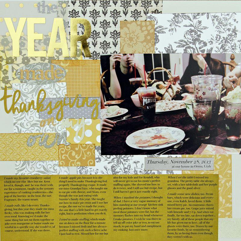 Amy sorensen year I made thanksgiving