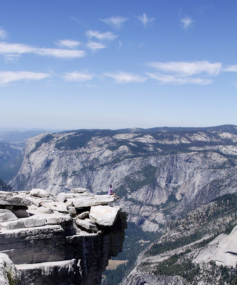 No15 sitting on half dome 5x6