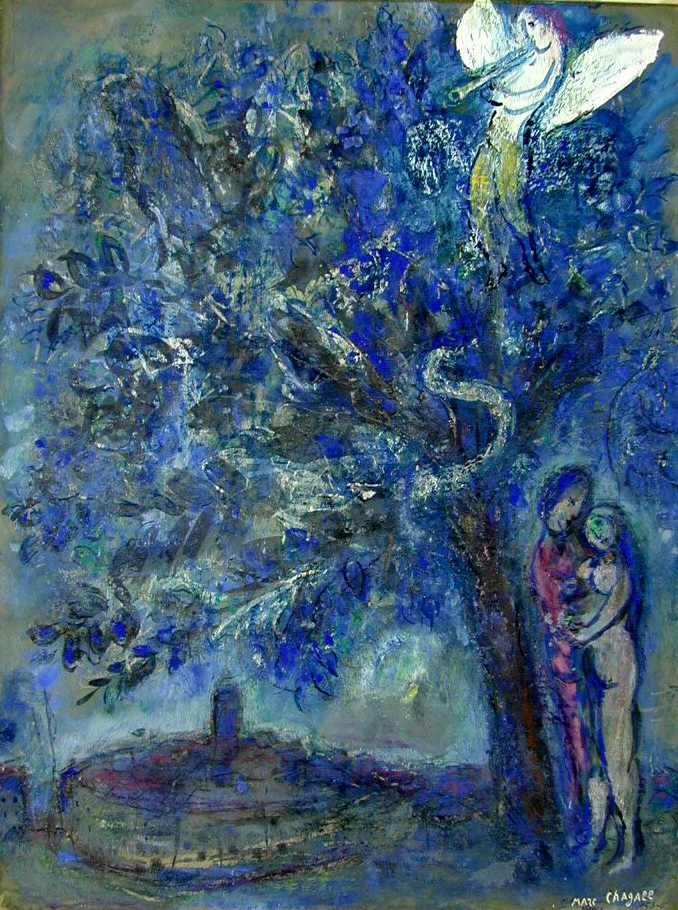 Adam and eve marc chagal