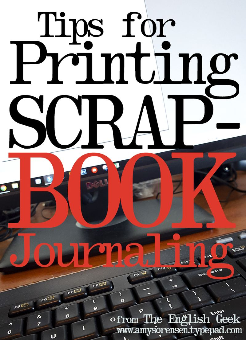 Tips for printing journaling amy sorensen