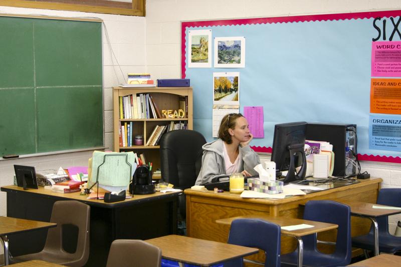A rare photo of my classroom