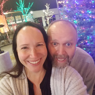 Goofy couple selfie