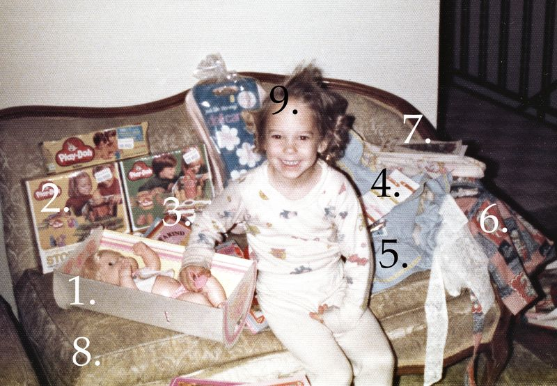 Amy christmas 1980ish 9 things