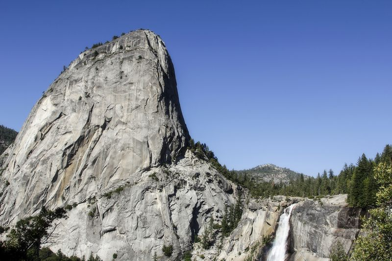 Nevada fall from John Muir Trail
