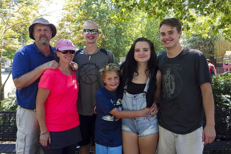 family at lagoon