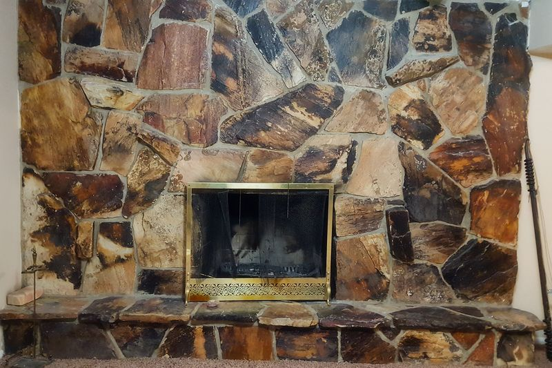Mom and dads fireplace
