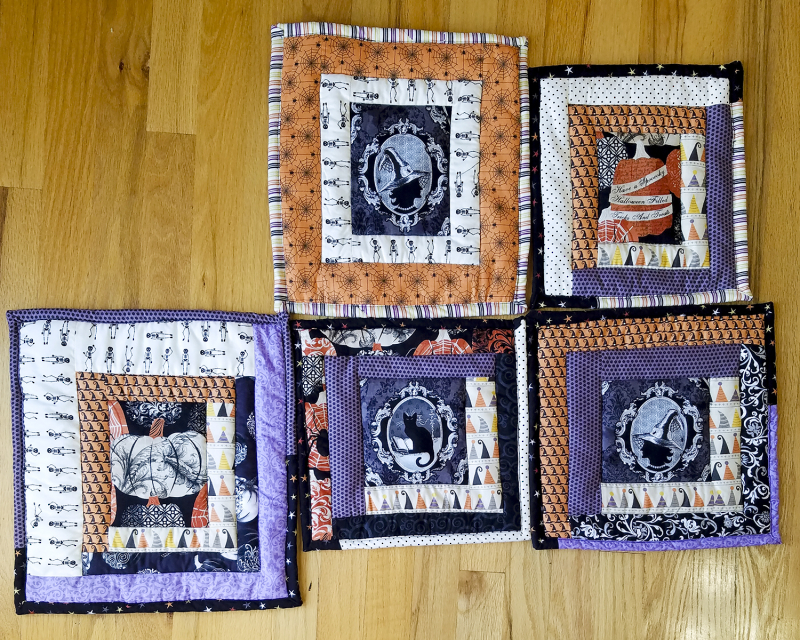 Halloween quilted hot pads