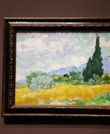 van gogh cypress with wheat