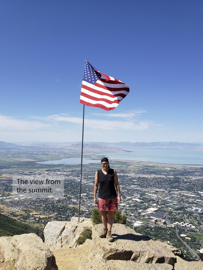 Squaw peak hike summit