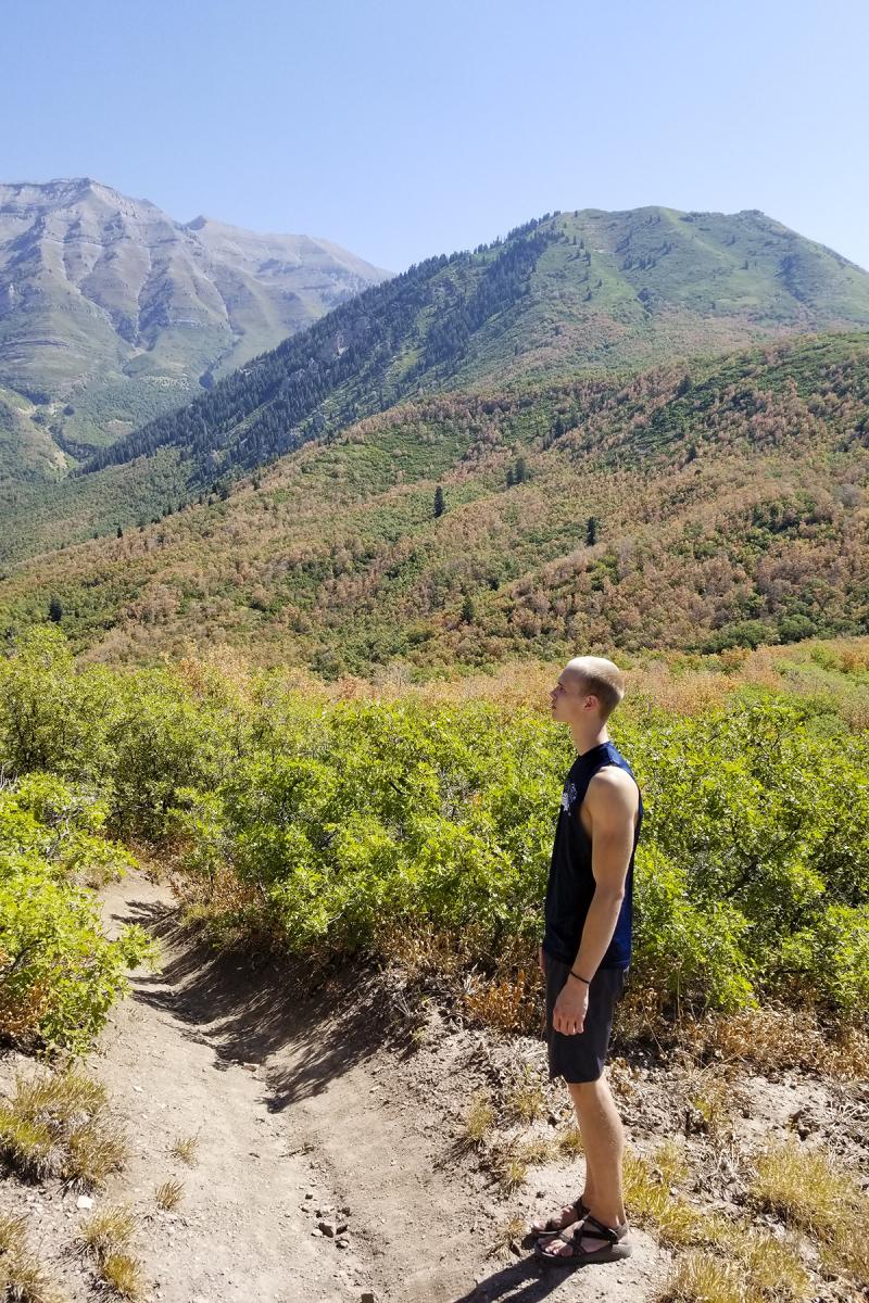 Nathan hiking