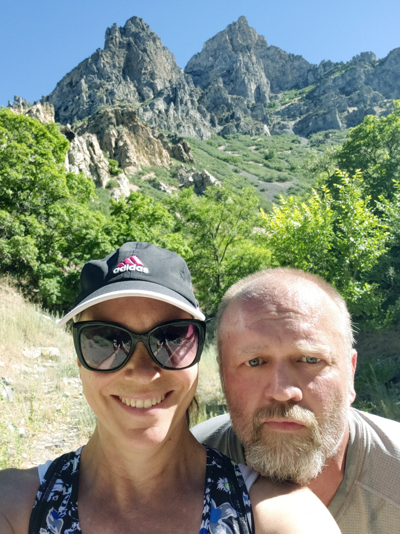 Hiking together selfie