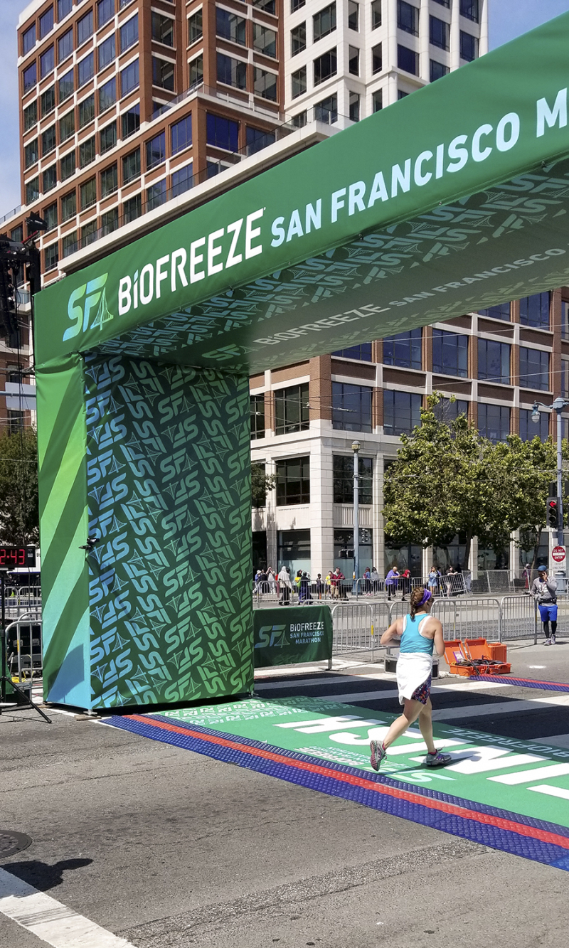 Sf marathon finish line
