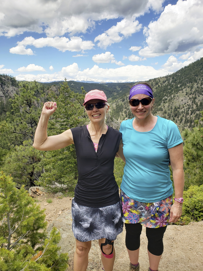 Amy and Lynne flatirons 20190531_130728