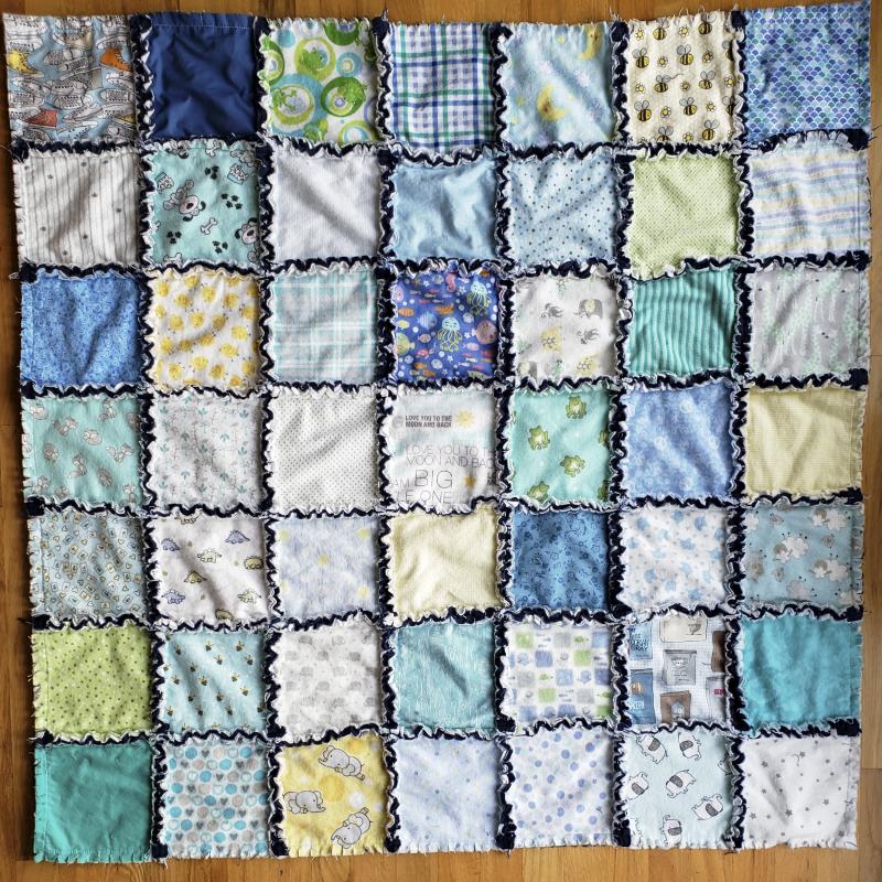 Baby rag quilt patchwork