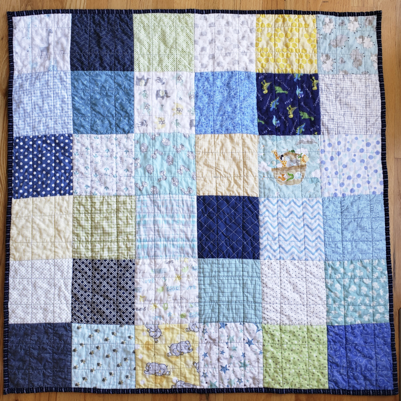 12 patchwork baby quilt in a day