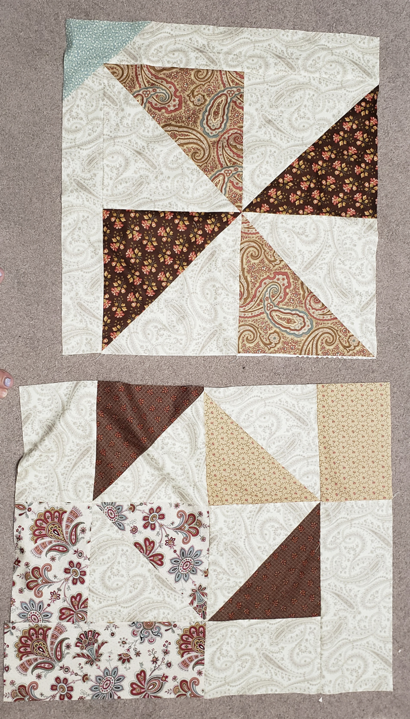 Fall leaf table quilt back piecing