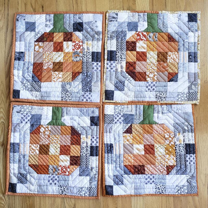 11 hot pads pumpkins