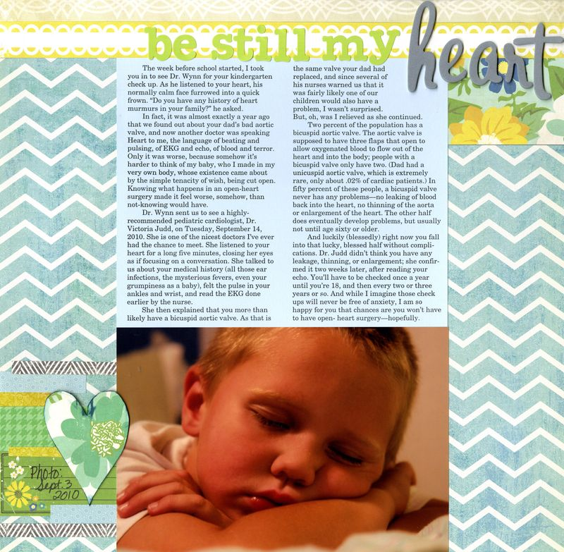 2010 09 03 Kaleb be still my heart bicuspid valve